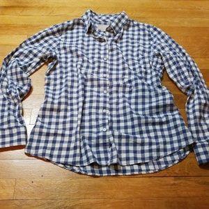 Banana Republic Tops - Blue and White Gingham 100% Cotton Shirt